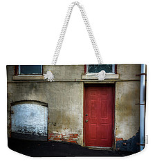 Scattered Light On Basement Door Weekender Tote Bag