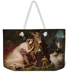 Scene From A Midsummer Night's Dream - Titania And Bottom Weekender Tote Bag