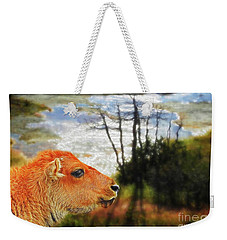 Scenic Buffalo Calf Weekender Tote Bag
