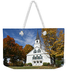 Scenic Church In Autumn Weekender Tote Bag