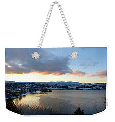 Weekender Tote Bag featuring the photograph Scenic Lake Country by Will Borden