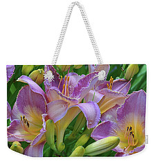 Weekender Tote Bag featuring the photograph Scent Of A Lily by Kathi Mirto