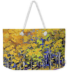 Weekender Tote Bag featuring the painting Scented Woods by Tatiana Iliina