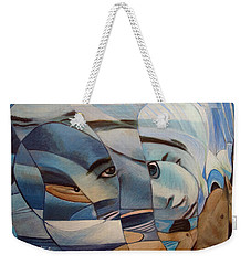 Weekender Tote Bag featuring the painting Schizophrenia by Ron Richard Baviello