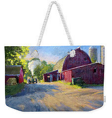 Schober's Barn At Sunset Weekender Tote Bag