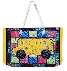 School Bus Quilt Weekender Tote Bag by Jim Harris