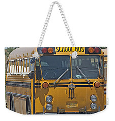 School Bus Weekender Tote Bag