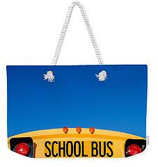 School Bus Top Weekender Tote Bag