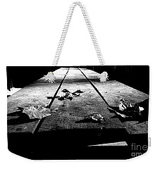 Schooled In Thought - Black And White Weekender Tote Bag