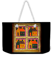 Schoolhouse Quilted Window Weekender Tote Bag by Jim Harris