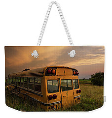 Weekender Tote Bag featuring the photograph School's Out  by Aaron J Groen