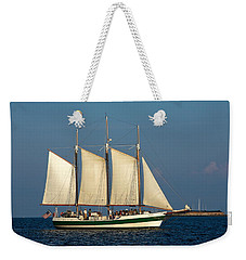Schooner By Fort Sumter Weekender Tote Bag