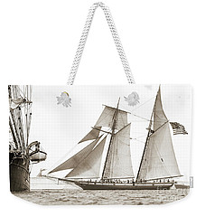 Schooner Lynx Full Sail Weekender Tote Bag