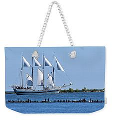 Schooner On Lake Michigan No. 1 Weekender Tote Bag