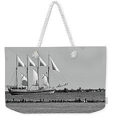 Schooner On Lake Michigan No. 1-1 Weekender Tote Bag