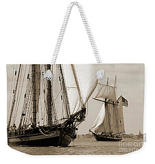 Schooner Pride Of Baltimore And Lynx Weekender Tote Bag
