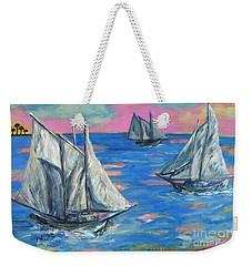 Schooner Seas Weekender Tote Bag