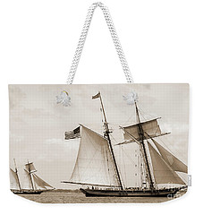 Schooners Pride Of Baltimore And Lynx Weekender Tote Bag