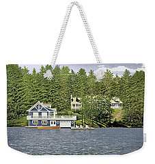 Weekender Tote Bag featuring the painting Schultz Summer Home Muskoka by Kenneth M Kirsch