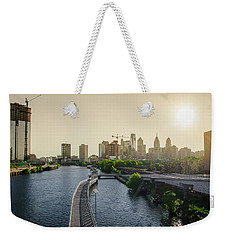 Weekender Tote Bag featuring the photograph Schuylkill River Walk At Sunrise by Bill Cannon