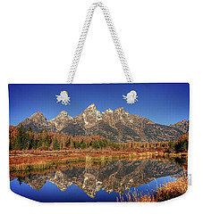 Schwabacher Landing Grand Teton National Park Weekender Tote Bag by James Hammond