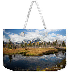 Schwabachers Landing, Grand Teton National Park Wyoming Weekender Tote Bag