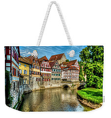 Weekender Tote Bag featuring the photograph Schwabish Hall by David Morefield