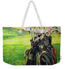 Schwarze Golftasche  Black Golf Bag Weekender Tote Bag