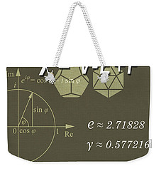 Science Posters - Leonhard Euler - Mathematician, Physicist, Engineer Weekender Tote Bag