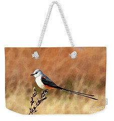 Scissor-tailed Flycatcher Weekender Tote Bag by Betty LaRue