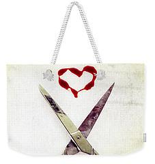 Scissors And Heart Weekender Tote Bag
