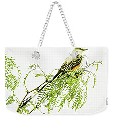 Weekender Tote Bag featuring the photograph Scissortail On Mesquite by Robert Frederick
