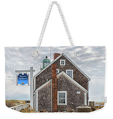 Scituate Lighthouse And Us Lighthouse Service Bell Weekender Tote Bag