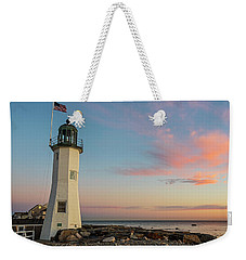 Scituate Lighthouse Scituate Massachusetts South Shore At Sunrise Weekender Tote Bag