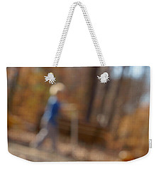 Weekender Tote Bag featuring the photograph Scootering At The Park by Greg Collins
