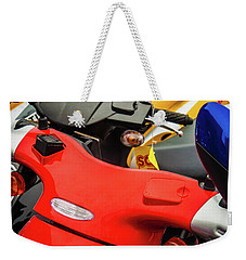 Weekender Tote Bag featuring the photograph Scooters II by Samuel M Purvis III