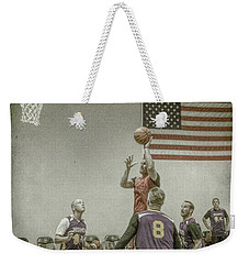 Weekender Tote Bag featuring the photograph Scoring In The Lane by Ronald Santini