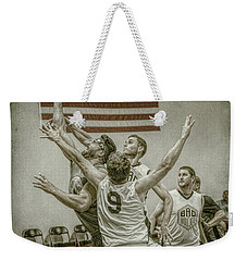 Weekender Tote Bag featuring the photograph Scoring In Traffic by Ronald Santini