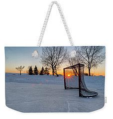 Weekender Tote Bag featuring the photograph Scoring The Sunset 2 by Darcy Michaelchuk