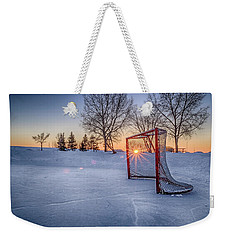 Weekender Tote Bag featuring the photograph Scoring The Sunset 3 by Darcy Michaelchuk