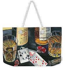 Scotch Cigars And Cards Weekender Tote Bag