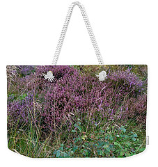 Weekender Tote Bag featuring the photograph Scotish Heather by Mary-Lee Sanders