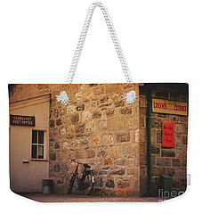 Weekender Tote Bag featuring the photograph Scotland Glenlivet Post Office by Mary-Lee Sanders