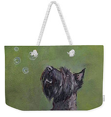 Scottie Likes Bubbles Weekender Tote Bag