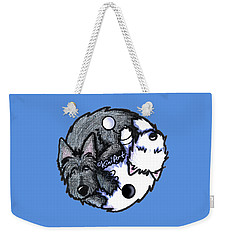 Scottie Westie Yin Yang Weekender Tote Bag