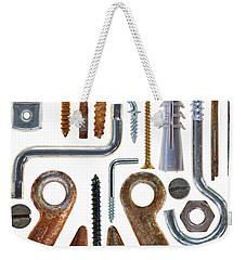 Screws, Nut Bolts, Nails And Hooks Weekender Tote Bag