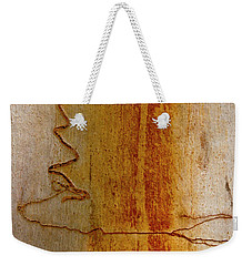 Weekender Tote Bag featuring the photograph Scribbly Gum Bark by Werner Padarin