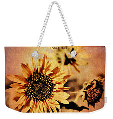Weekender Tote Bag featuring the photograph Scripture - 1 Peter One 24-25 by Glenn McCarthy Art and Photography