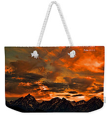 Scripture And Picture Psalm 121 1 2 Weekender Tote Bag