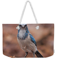 Scrub Jay On Chop Weekender Tote Bag